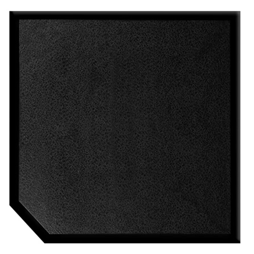 Bevengo 40 X 40 Black Textured Corner Thermal Hearth Pad