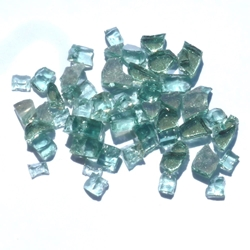 1/4 inch Forest Green Reflective Fire Glass Crystals