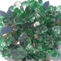 1/2 inch Forest Green Reflective Fire Glass Crystals