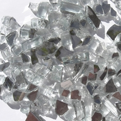 1/4 inch Crystal White Reflective Fire Glass Crystals