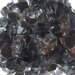 1/2 inch Black Reflective Fire Glass Crystals