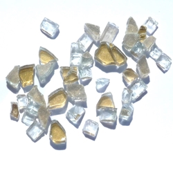 1/4 inch Golden Reflective Fire Glass Crystals
