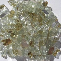 1/2 inch Golden Reflective Fire Glass Crystals