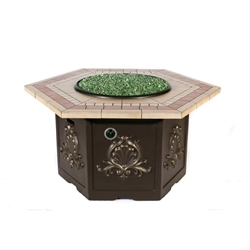 Tretco Classic Hex Fire Pit Table