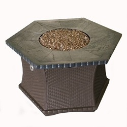 Tretco 42 inch Hex Woven Firepit Table