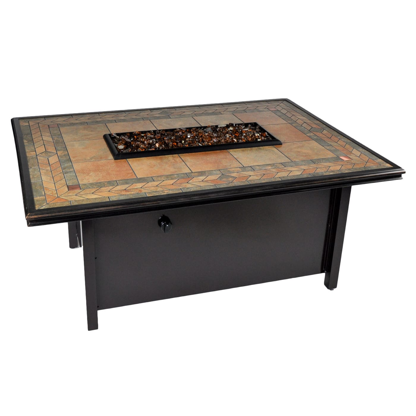Tretco Panama 50 inch x 36 inch Fire Pit Table