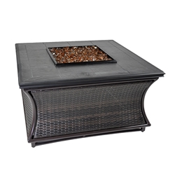 Tretco Spring Hill Wicker 44 inch Fire Pit Table