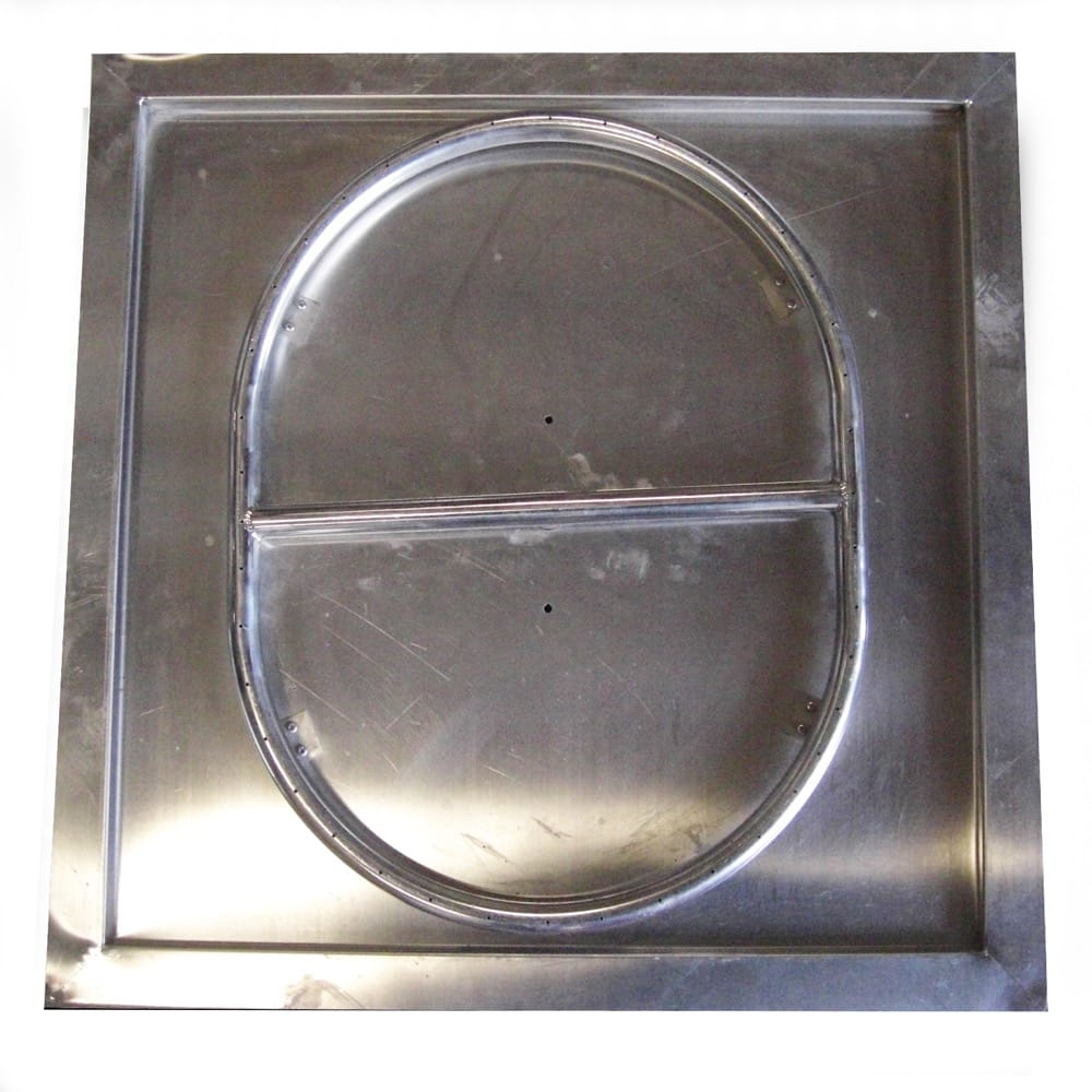 24 inch Stainless Steel Drop-In Square Pan