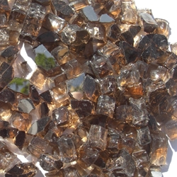 1/2 inch Copper Reflective Fire Glass Crystals