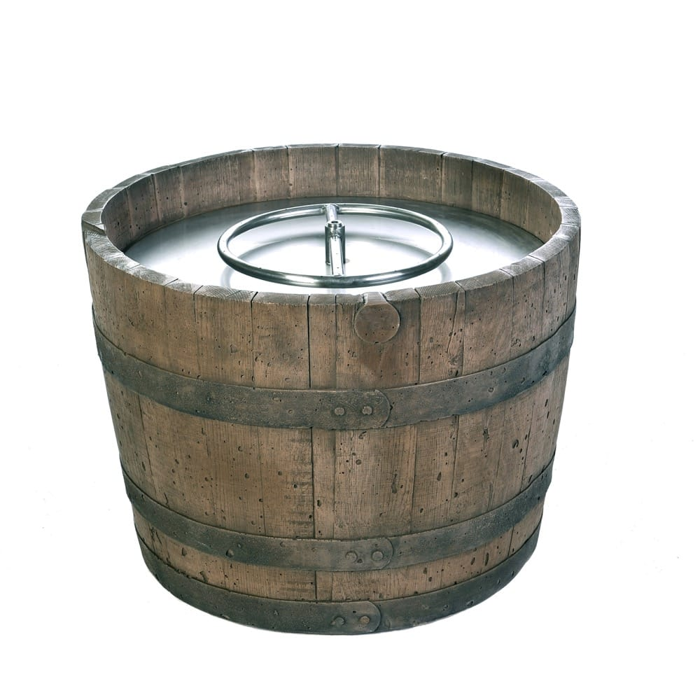 Tretco Wine Barrel Fire Pit- Rust Finish - C10-13