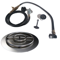 22 inch Stainless Steel Pan-Ring Kit LP