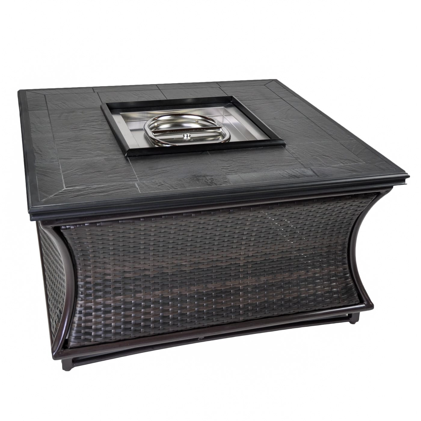 Tretco Spring Hill Wicker 44 inch Fire Pit Table - FP-W-SPR-44