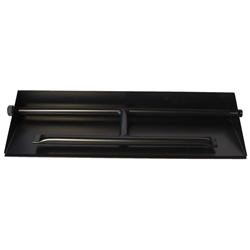 21 inch Powder Coated Dual Burner Pan