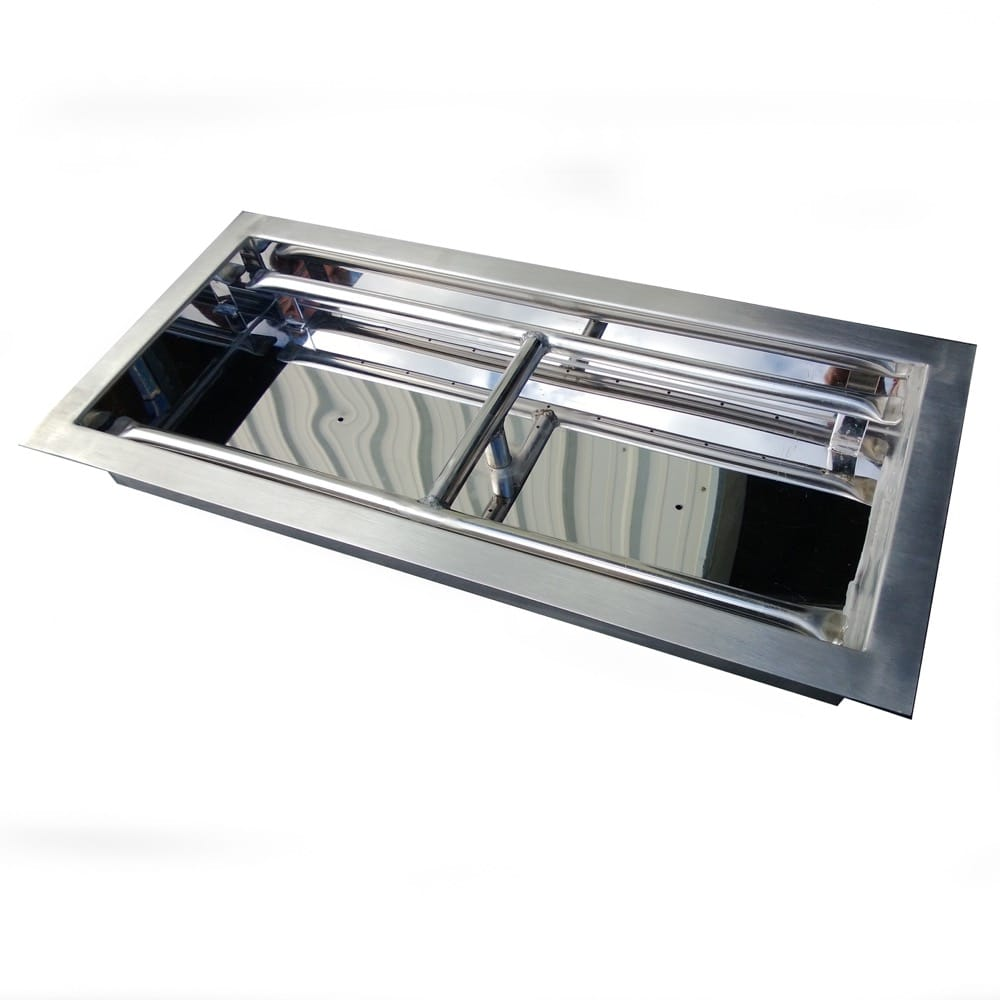 30 inch Stainless Steel Drop-In Rectangular Burner - OB4SS-30