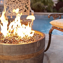 Tretco Wine Barrel Fire Pit- Rust Finish