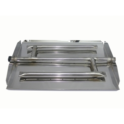 17 inch Stainless Steel Direct Flame Triple Xtra Flame Burner Pan